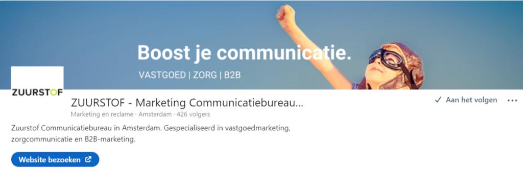 LinkedIn adverteren bedrijfspagina