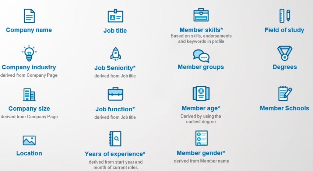 LinkedIn-targeting doelgroepen