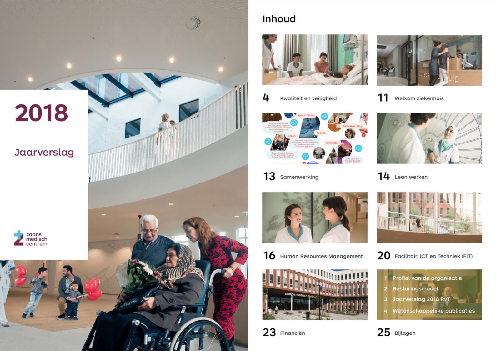 Vormgeving Jaarverslag Zaans Medisch Centrum - Zuurstof