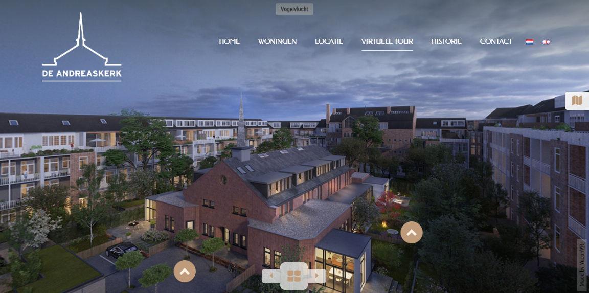 De Andreaskerk vastgoedmarketing projectwebsite