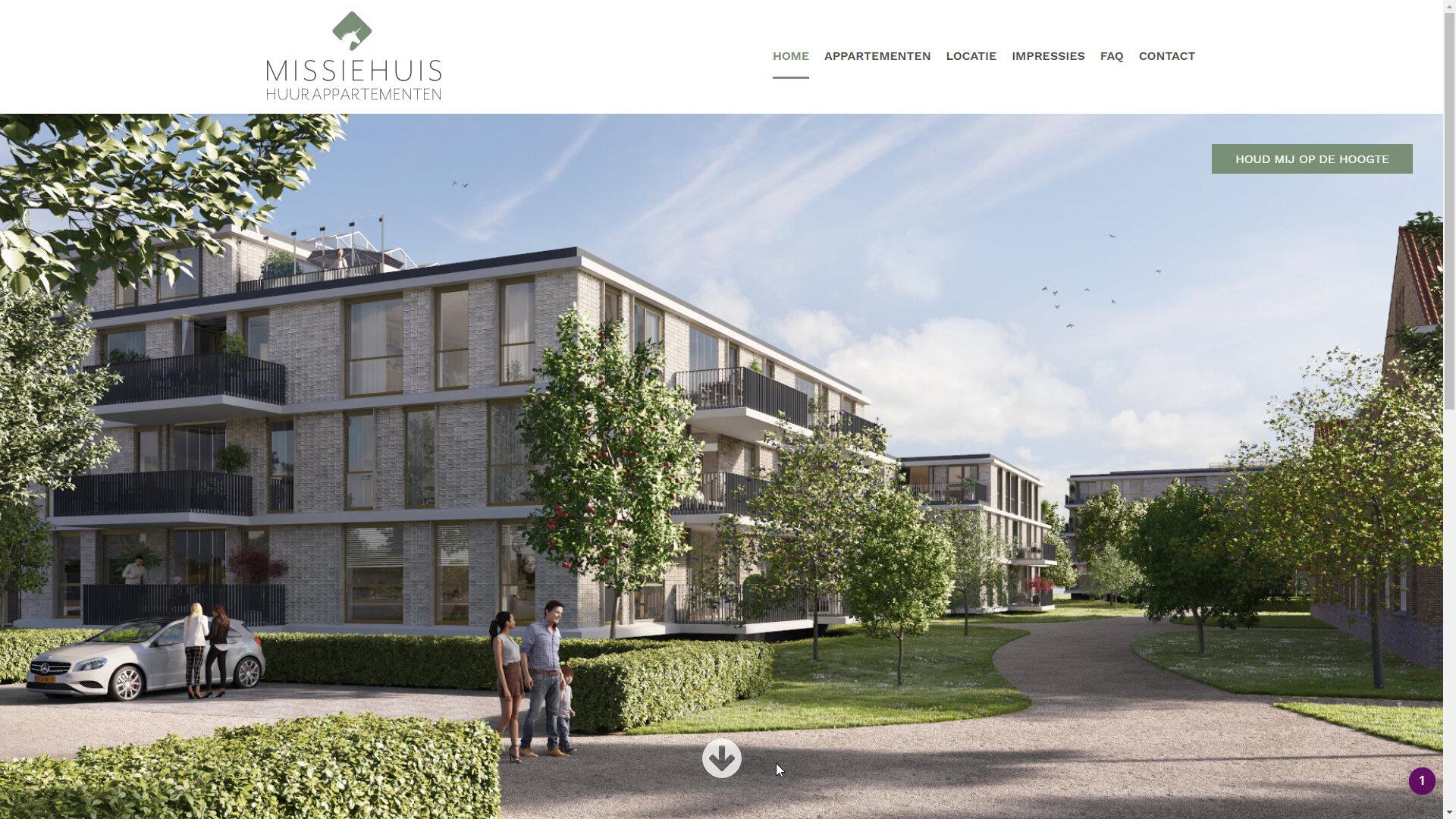 vastgoed projectwebsite missiehuis hoorn